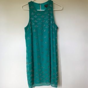 Landry Shelli Segal turquoise beaded dress: 8